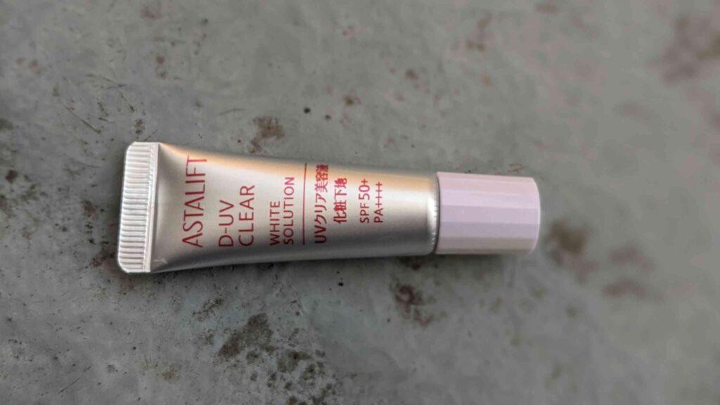 D-UVクリア ホワイトソリューションのキャップ色変化